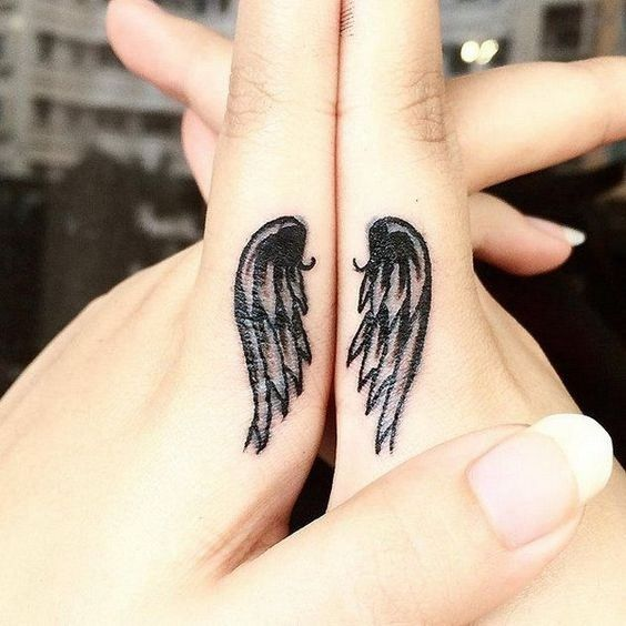 Wings On Fingers Tattoos Mother Son Tattoos Mother Tattoos