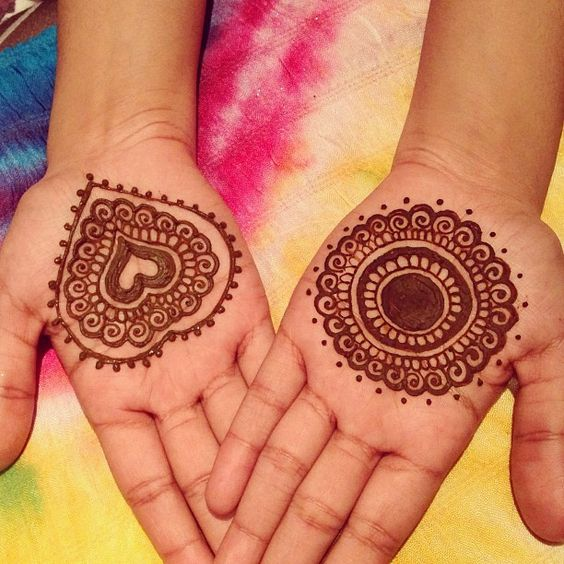Cool Mehndi Designs for Kids , Kids Front Hand Mehndi