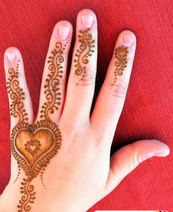 Easy Mehndi Design For Kids Hand Kids Mehndi Designs Mehndi