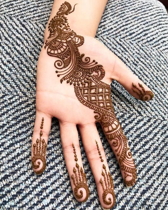 modern arabic mehndi designs for kids