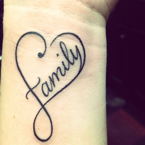 family heart tattoo mother daughter heart tattoos mother