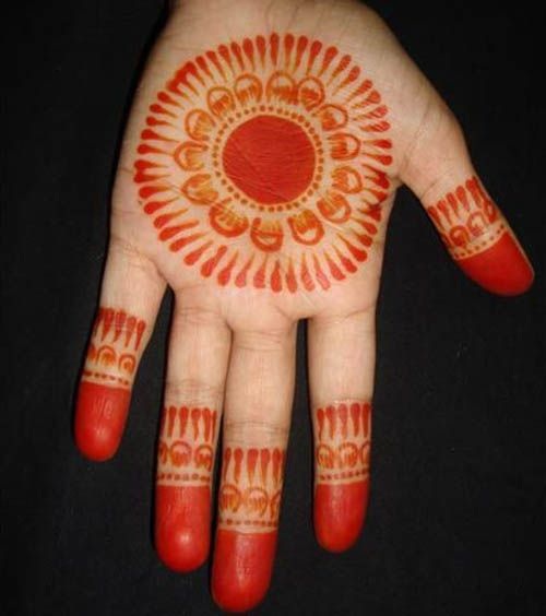 Simple Round Mehndi Design Kids Front Hand Mehndi Designs