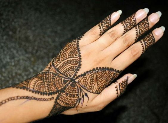 butterfly mehndi design simple