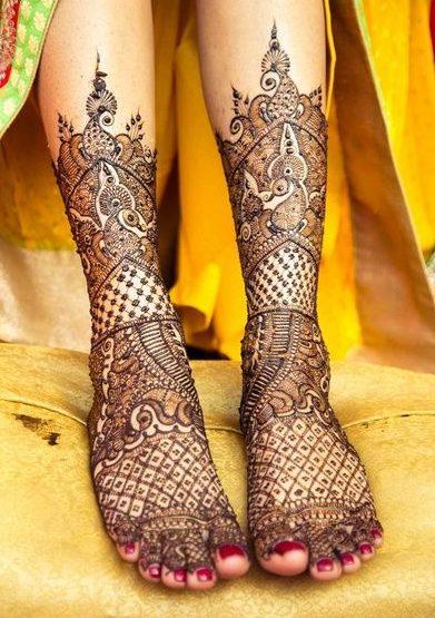 Gorgeous Bridal Feet Mehndi Design Bridal Foot Mehndi Designs