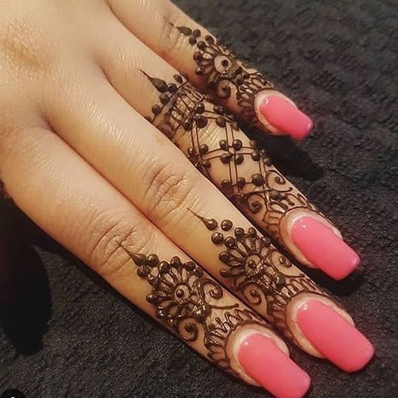 Simple Mehndi Design On Fingers Simple Bridal Mehndi Designs