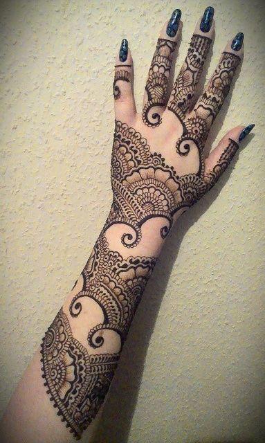 Full Arm Henna Designs: Stunning Mehndi Design For Brides