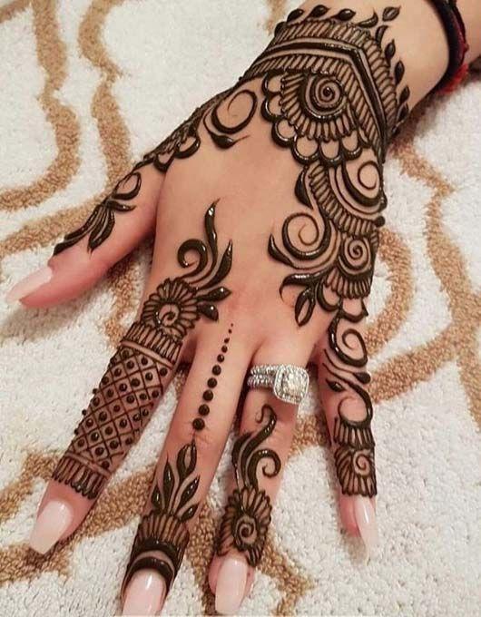 Alluring Gulf Style Mehndi Design Unique Arabic Mehndi Designs