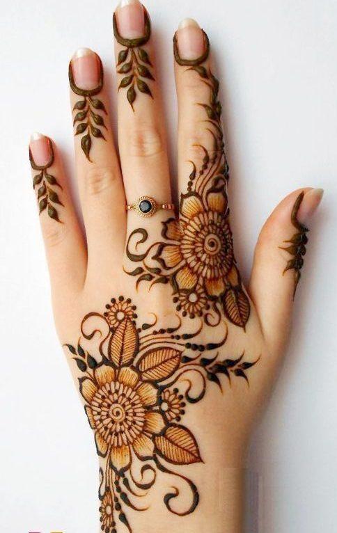 Exquisite Simple Arabic Mehndi Design - Simple Bridal Mehndi Designs