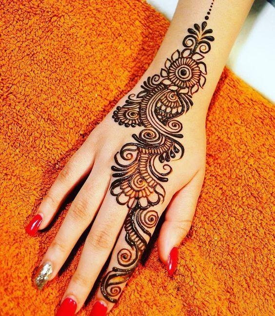 back hand mehndi design arabic simple