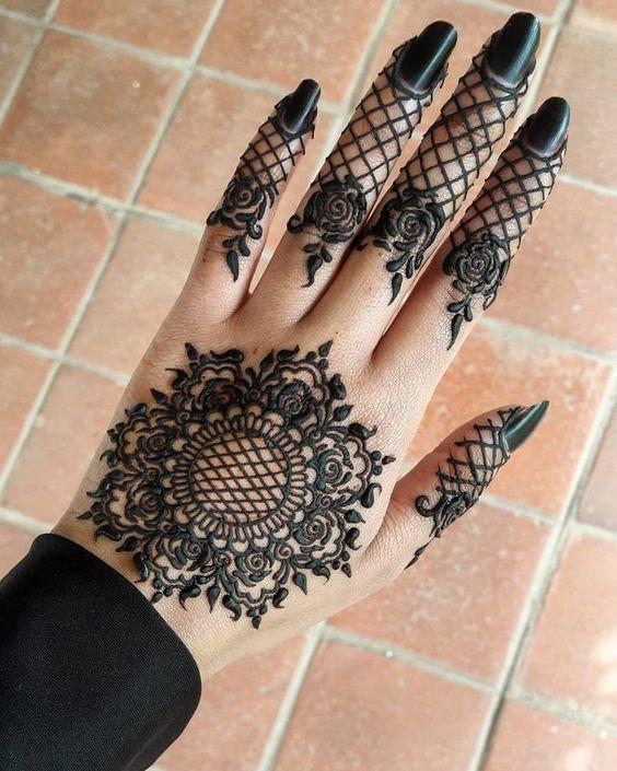 full arm and back hand arabic mehndi   back hand arabic