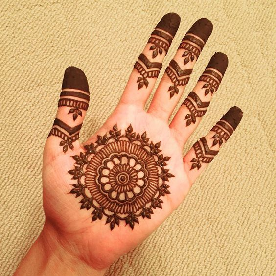 New Simple Mehndi Design for Front Hands , Front Hand Arabic