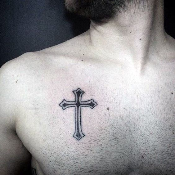 Simple Cross Tattoo For Boys