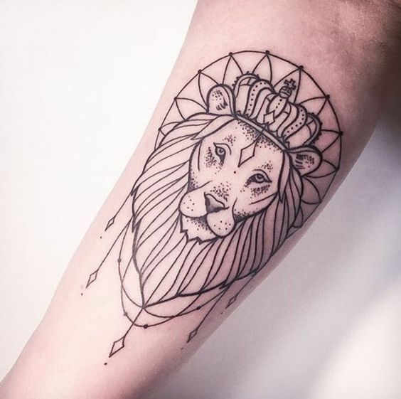 55602db9b Lions are a symbol of power and majesty which is why people love getting  them made on their bodies. SOm people prefer simple and minimalist designs  whereas ...