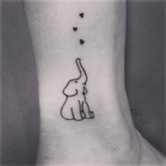Minimalist Elephant Tattoo Elephant Simple Tattoos Simple