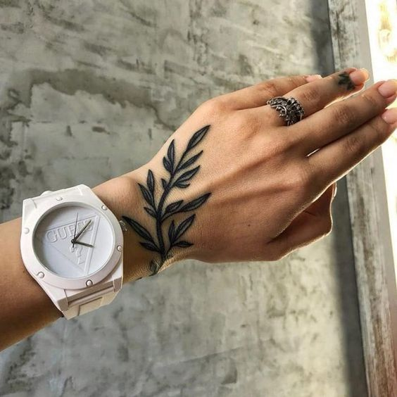 Beautiful Nature Tattoo on Hand - Nature Simple Tattoos - Simple ...