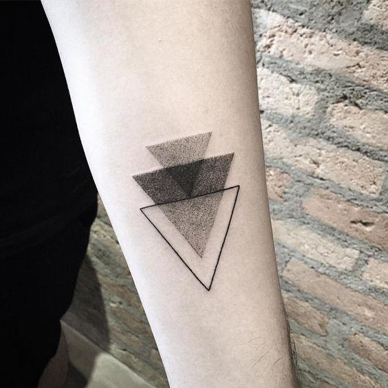Little Triangle On Forearm Tattoo Forearm Simple Tattoos Simple