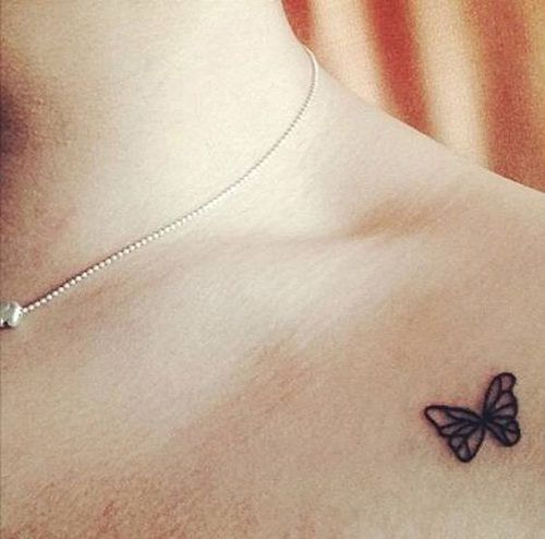 d39cb01a69586 Small Butterfly Tattoo - Butterfly Simple Tattoos - Simple Tattoos ...