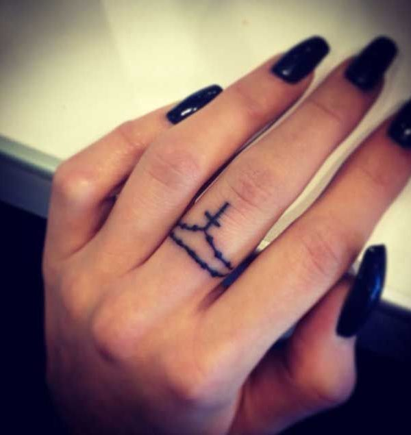 50e0905907eb3 Unprecedented Finger Abstract Simple Tattoo. Abstract tattoos are  unfathomably bewildering and most young ladies lean toward them getting  made on their ...