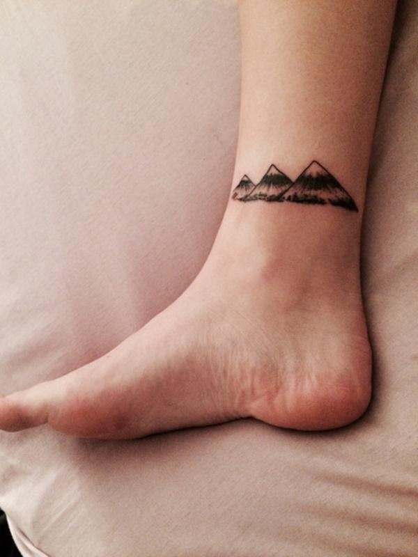 Most Amazing Simple Tattoos: Amazing Faint Inked Ankle Simple Tattoos