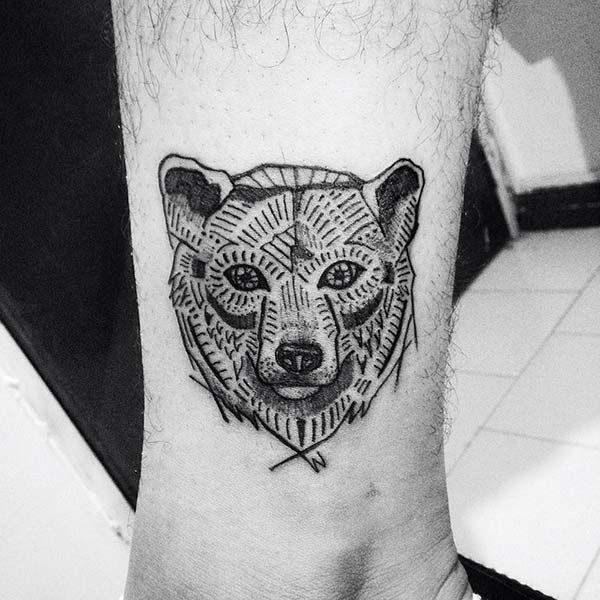 dd61b17d37c52 Covering for Bear Simple Tattoos - Bear Simple Tattoos - Simple ...