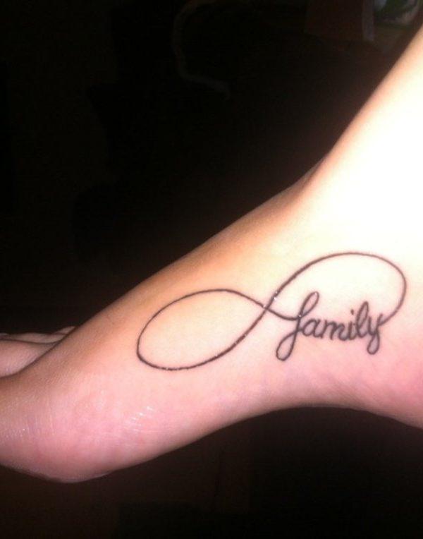 cf2c4562c Staggering Infinity Simple Tattoos on left leg - Infinity Simple ...