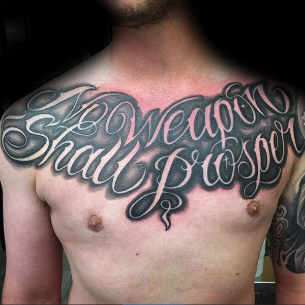 Astonishing Best Writing Tattoos On Full Chest